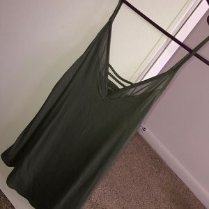 Olive green soft and sexy tank